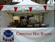 Christmas hog roast event